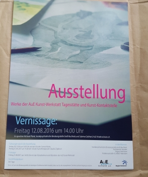 Ausstellung     Werke der AuE Kunst-Werkstatt in den Räumen der Sozialpsychiatrischen Beratungsstelle Groß-Buchholz