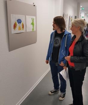 Ausstellung     Werke der AuE Kunst-Werkstatt