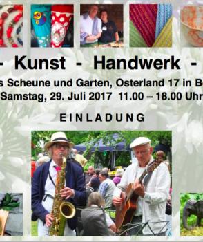 Kunsthandwerkermarkt in Ditterts Scheune – und wir sind wieder dabei!